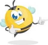 Simple Style Bee Cartoon Vector Character AKA Mr. Bubble Bee - Point