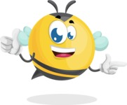 Simple Style Bee Cartoon Vector Character AKA Mr. Bubble Bee - Point2