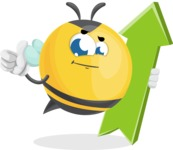Simple Style Bee Cartoon Vector Character AKA Mr. Bubble Bee - Pointer 1