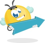 Simple Style Bee Cartoon Vector Character AKA Mr. Bubble Bee - Pointer 2
