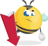 Simple Style Bee Cartoon Vector Character AKA Mr. Bubble Bee - Pointer 3