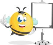 Simple Style Bee Cartoon Vector Character AKA Mr. Bubble Bee - Presentation 1
