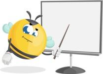 Simple Style Bee Cartoon Vector Character AKA Mr. Bubble Bee - Presentation 2