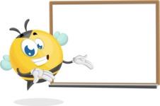 Simple Style Bee Cartoon Vector Character AKA Mr. Bubble Bee - Presentation 3