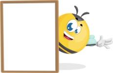 Simple Style Bee Cartoon Vector Character AKA Mr. Bubble Bee - Presentation 4
