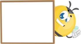 Simple Style Bee Cartoon Vector Character AKA Mr. Bubble Bee - Presentation 5