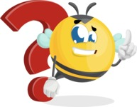 Simple Style Bee Cartoon Vector Character AKA Mr. Bubble Bee - Question