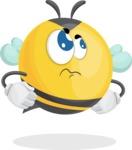 Simple Style Bee Cartoon Vector Character AKA Mr. Bubble Bee - Roll Eyes