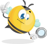 Simple Style Bee Cartoon Vector Character AKA Mr. Bubble Bee - Search