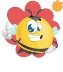 Simple Style Bee Cartoon Vector Character AKA Mr. Bubble Bee - Shape 1