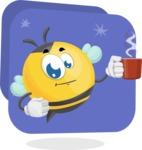 Simple Style Bee Cartoon Vector Character AKA Mr. Bubble Bee - Shape 11