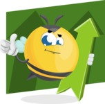 Simple Style Bee Cartoon Vector Character AKA Mr. Bubble Bee - Shape 12