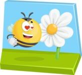Simple Style Bee Cartoon Vector Character AKA Mr. Bubble Bee - Shape 5