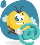 Simple Style Bee Cartoon Vector Character AKA Mr. Bubble Bee - Shape 7