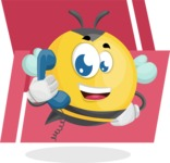 Simple Style Bee Cartoon Vector Character AKA Mr. Bubble Bee - Shape 9
