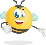 Simple Style Bee Cartoon Vector Character AKA Mr. Bubble Bee - Show