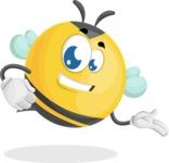 Simple Style Bee Cartoon Vector Character AKA Mr. Bubble Bee - Show2
