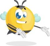 Simple Style Bee Cartoon Vector Character AKA Mr. Bubble Bee - Showcase 2