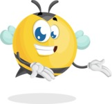 Simple Style Bee Cartoon Vector Character AKA Mr. Bubble Bee - Showcase