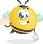 Simple Style Bee Cartoon Vector Character AKA Mr. Bubble Bee - Sign 1