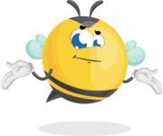 Simple Style Bee Cartoon Vector Character AKA Mr. Bubble Bee - Sorry