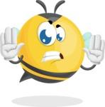 Simple Style Bee Cartoon Vector Character AKA Mr. Bubble Bee - Stop 2