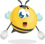 Simple Style Bee Cartoon Vector Character AKA Mr. Bubble Bee - Stunned