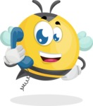 Simple Style Bee Cartoon Vector Character AKA Mr. Bubble Bee - Support