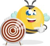 Simple Style Bee Cartoon Vector Character AKA Mr. Bubble Bee - Target