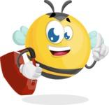 Simple Style Bee Cartoon Vector Character AKA Mr. Bubble Bee - Travel 2