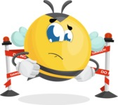 Simple Style Bee Cartoon Vector Character AKA Mr. Bubble Bee - Under Construction 2
