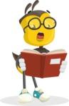 School Bee Cartoon Vector Character AKA Shelbee Sting - Book 1