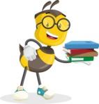 School Bee Cartoon Vector Character AKA Shelbee Sting - Book 2