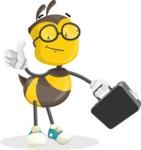 School Bee Cartoon Vector Character AKA Shelbee Sting - Brifcase 1