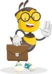 School Bee Cartoon Vector Character AKA Shelbee Sting - Brifcase 2
