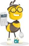 School Bee Cartoon Vector Character AKA Shelbee Sting - Calculator