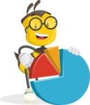 School Bee Cartoon Vector Character AKA Shelbee Sting - Chart