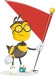 School Bee Cartoon Vector Character AKA Shelbee Sting - Checkpoint