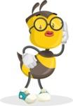 School Bee Cartoon Vector Character AKA Shelbee Sting - Duckface