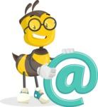 School Bee Cartoon Vector Character AKA Shelbee Sting - Email