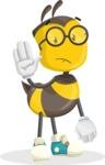 School Bee Cartoon Vector Character AKA Shelbee Sting - Goodbye