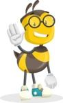School Bee Cartoon Vector Character AKA Shelbee Sting - Hello