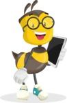 School Bee Cartoon Vector Character AKA Shelbee Sting - iPad3