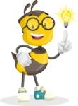 School Bee Cartoon Vector Character AKA Shelbee Sting - Light Switch