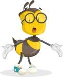 School Bee Cartoon Vector Character AKA Shelbee Sting - Lost