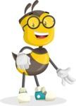 School Bee Cartoon Vector Character AKA Shelbee Sting - Normal