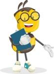 School Bee Cartoon Vector Character AKA Shelbee Sting - Notepad 2