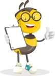 School Bee Cartoon Vector Character AKA Shelbee Sting - Notepad 4