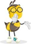 School Bee Cartoon Vector Character AKA Shelbee Sting - Oops