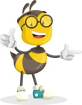 School Bee Cartoon Vector Character AKA Shelbee Sting - Point2
